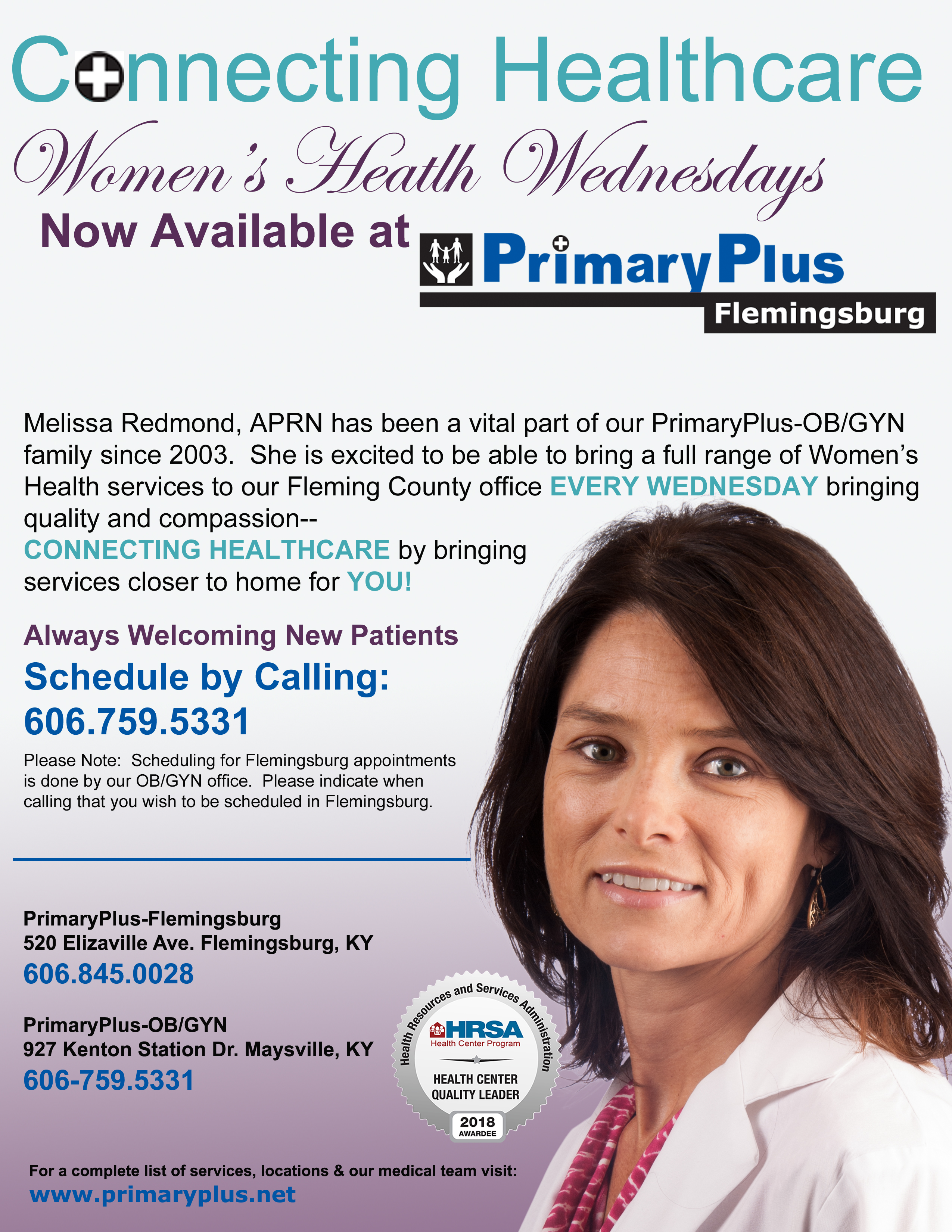 PrimaryPlus-Flemingsburg Now offering Women's Health Wednesdays News